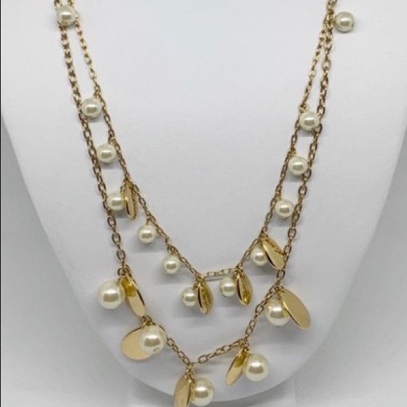 J. Crew Jewelry - J.Crew double strand pearl and gold necklace